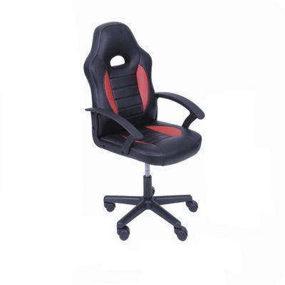 Cadeira Gamer Infantil com Rodizio Preta e Vermelha