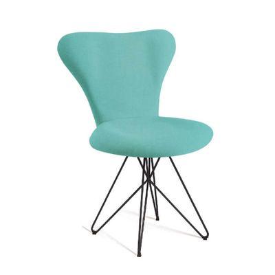cadeira-jacobsen-base-butterfly-azul-turquesa