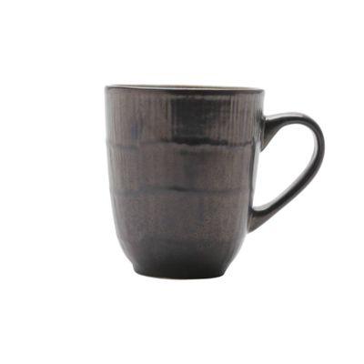 Caneca-Ceramica-Rustic-Marrom-Azul-10X8Cm-355Ml
