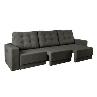 Sofa-Boston-220-Velosuede-Cinza