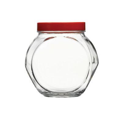 Pote-com-Tampa-Vermelha-15L-A16X-D105cm-Transparente-Bella