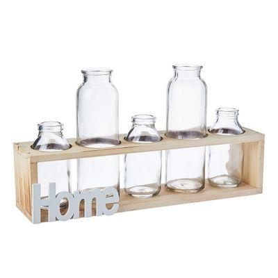 Vaso-Decor-Vidro-Madeira-Five-Bottles-Home-Transparente-75X8X325cm