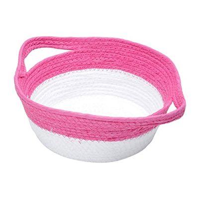 Cesta-Decor-Fibra-Braid-Pink-Branco-Grande-35X26X11cm