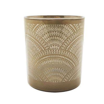Castical-Vidro-Life-Mandala-Marrom-73X73X8cm