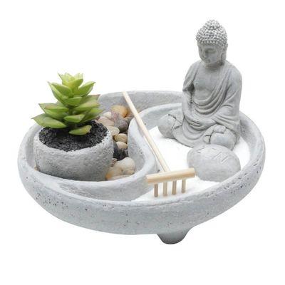 Decor-Concreto-Com-Cachepot-Buddah-Round-Zen-Garden-Cinza-195X195X13cm