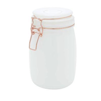 Pote-Vidro-Solid-Color-Copper-Clip-Branco-11X11X17cm