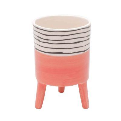 Vaso-Ceramica-Bright-Colors-Salmao-Grande-Com-Pe-10X10X15cm