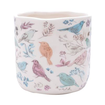 Vaso-Ceramica-Birds-And-Flowers-Branco-13X13X123cm-43871_B