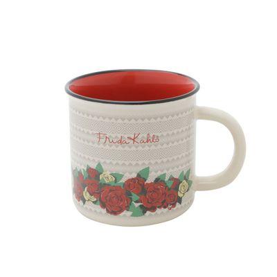 Mini-Caneca-Porcelana-Fk-Geometric-Flowers-Branco-79X64X77cm-220ml-43413_A