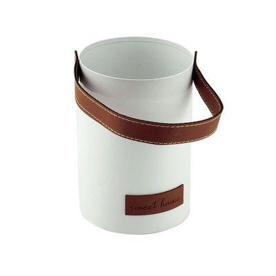 Porta-Objetos-Metal-Leather-Brown-Belt-Branco-10X10X25cm-44414_A