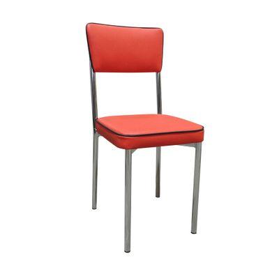 Cadeira-Cromada-Assento-Encosto-Vermelho-Filete-Preto