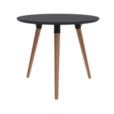 mesa-redonda-090-base-clara-tampo-preto-fosco-outlet-moveis-decoracao