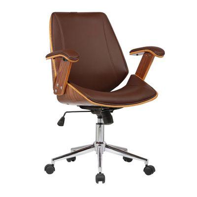 Cadeira-Office-Lisboa-com-Rodizio-Marrom-sem-encosto-outlet-home-office