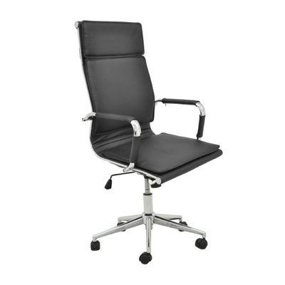 Cadeira-Office-Valencia-Alta-com-Rodizio-PU-Preto-outlet-home-office-escritorio