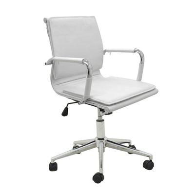 Cadeira-Office-Valencia-Baixa-com-Rodizio-PU-Branca-outlet-home-office-escritorio