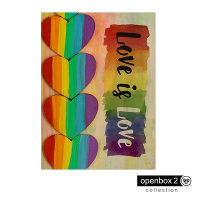 Quadro-Wood-Print-50X33-Love-Is-Love-Lgbt-Coracoes