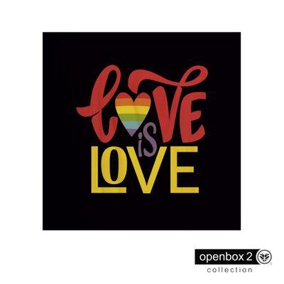Quadro-Wood-Print-60X60-Fundo-Preto-Love-Is-Love
