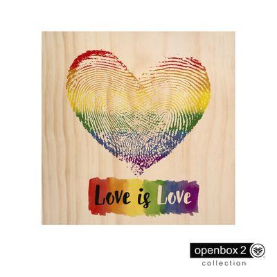 Quadro-Wood-Print-60X60-Fundo-Madeira-Love-Is-Love