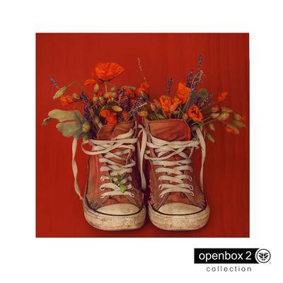 Quadro-Wood-Print-40X40-All-Star-Vermelho-com-Flores
