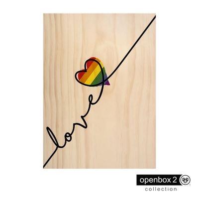 Quadro-Wood-Print-50X70-Fundo-Madeira-Love-Lgbt