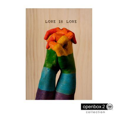 Quadro-Wood-Print-50X70-Fundo-Madeira-Maos-Love-Is-Love