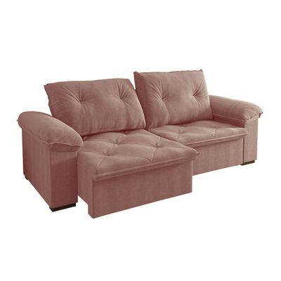 Sofa-Copacabana-250-Veludo-Rose-9043-Bipartido-outlet-reclinavel-retratil