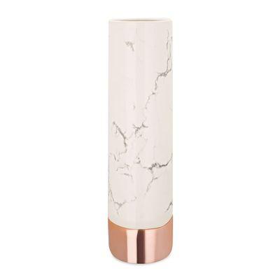 Vaso-Ceramica-Marmore-Branco-Rose-Gold-9048