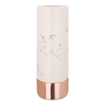 Vaso-Ceramica-Marmore-Branco-Rose-Gold-9049