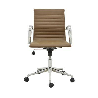 Cadeira-Office-Sevilha-Baixa-com-Rodizio-PU-Marrom-Escuro-Escritorio-outlet