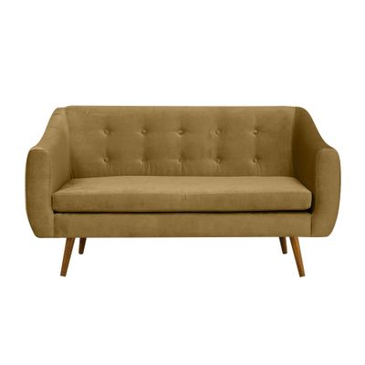 sofa-2-lugares-mimo-base-castanho-veludo-mostarda-T0065