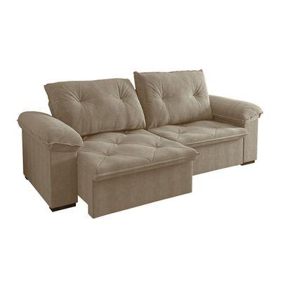 Sofa-Copacabana-250-Veludo-Castor-9182-Bipartido-outlet-reclinavel-retratil