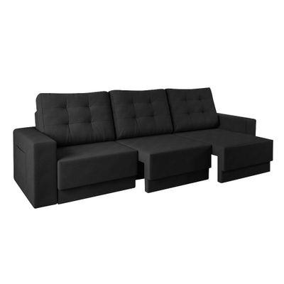 Sofa-Boston-220-Velosuede-Preto