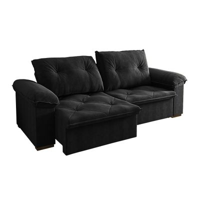 Sofa-Copacabana-250-Veludo-Preto-9185-Bipartido-outlte-retratil-reclinavel