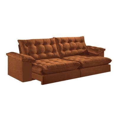 Sofa-Libano-290-Veludo-Marrom-1028-Mola-Ensacada