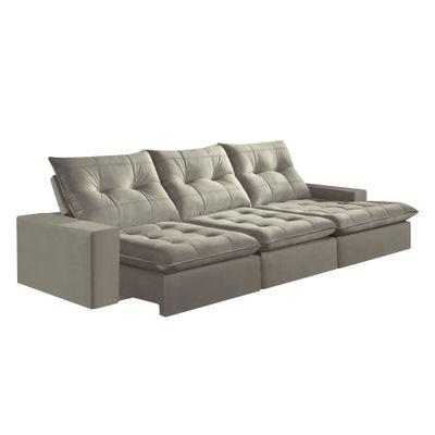 Sofa-Costa-Rica-350-com-Chaise-Esquerdo-Veludo-Grafite-1018-Mola-Ensacada