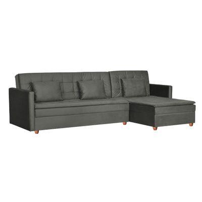 Sofa-Cama-Fausto-274-Chaise-Dir-Veludo-Chumbo-Sk0153-Bipartido-lateral