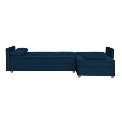 Sofa-Cama-Fausto-274-Chaise-Dir-Veludo-Marinho-Sk0152-Bipartido-aberto