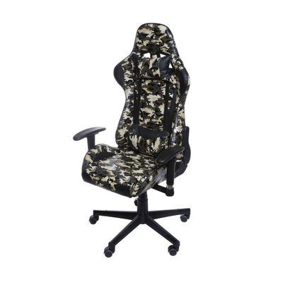 Cadeira Gamer Office F16 com Rodizio Camuflada