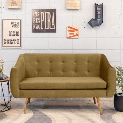 sofa-2-lugares-mimo-base-castanho-veludo-mostarda-T0065-ambientada